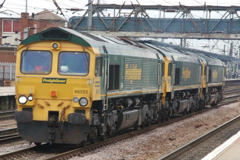 66555, 66563 & 66553 - Doncaster - 30 June 2017