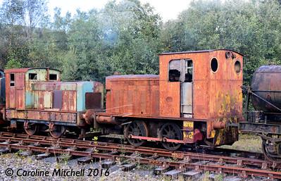 Ruston Hornsby 284339/1950 and Hunslet 3122/1944, Dunaskin, 25th September 2016