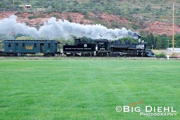At Home Ranch Siding, the 478 kicks her heels up for the run up the Hermosa Valley.