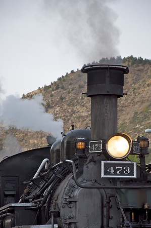 Profile of the 473 against Smelter Mountain.