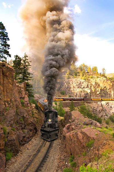 473 pulls 22-car train June 26, 2015