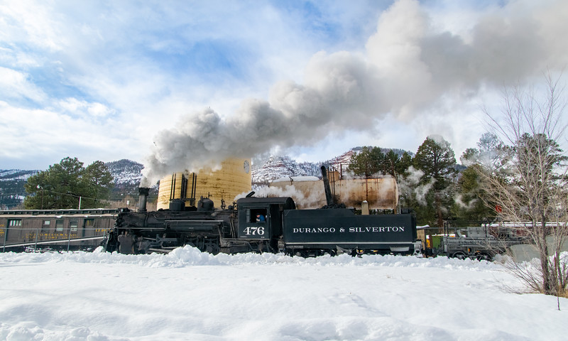 Work Train at Hermosa Tank