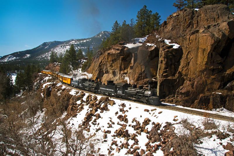 A rare winter double header train!