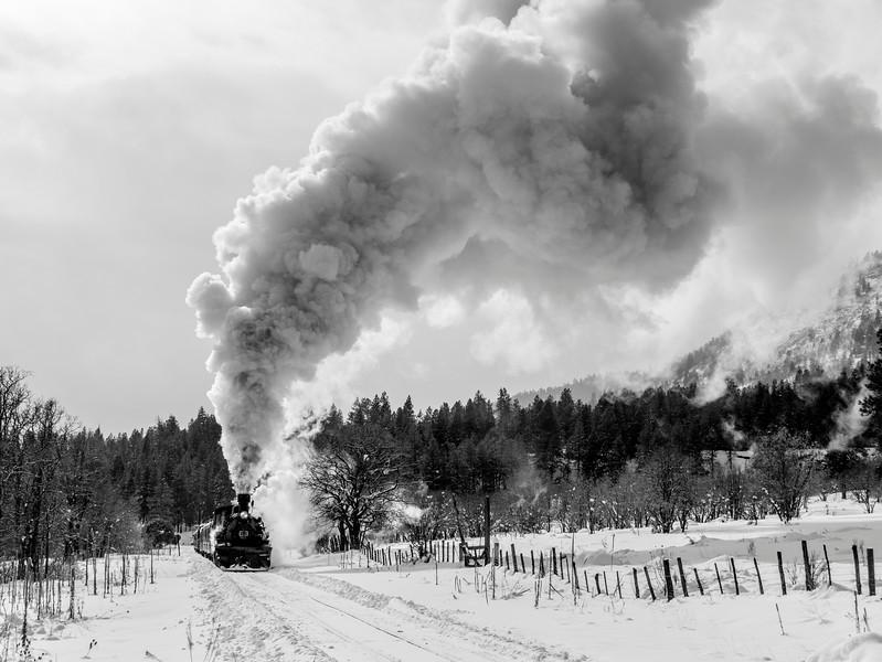 Winter scene on the D&SNGRR