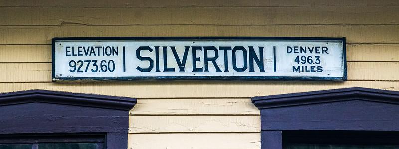 Silverton Depot sign
