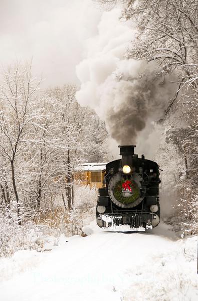Winter snow train
