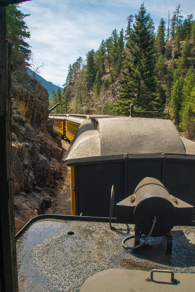 The view from my ride in the Doghouse of Locomotive 473's tender. Leaving Tank Creek water tank.