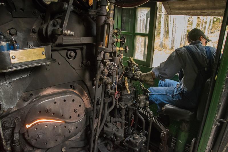 Engineer Jon at the throttle