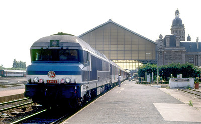 Co-Co 72032 waits to depart from La Rochelle. August 1989.