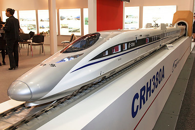 Model of the high speed train being built in China. Innotrans 2010