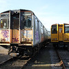 508201 and 508210 in Eastleigh Works Yard 20/10/11.