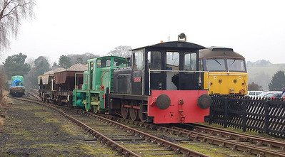 For the first ballast train on 11th February Darlington (Robert Stephenson & Hawthorn 8343/1962) was added.