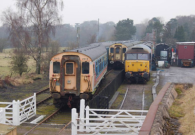A view of the 4-CEPs and 47799 from the top of the blast wall on 11th February.