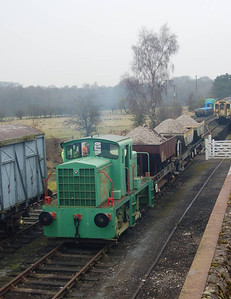 The Vanguard (TH 130c) shunting the ballast train on 11th February 2012.