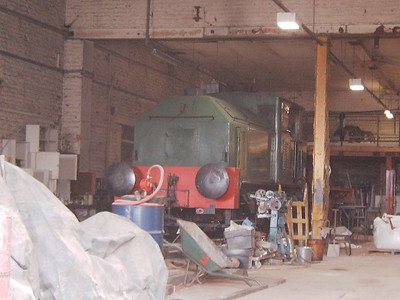 One of the Sentinel locos in the shed. It was not possible to identify it further
