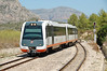 DMU 2512 arrives at Teulada, this the service from Denia heading for Benidorm 15/08/2009.