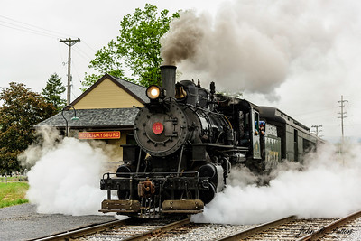 Everett Railroad steam train