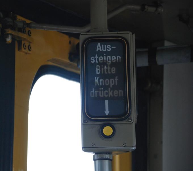 German signage still intact