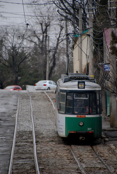 We went all the way cross town on route 11 which starts to loop back towards the city centre. We carried on by other routes before bailing when we went on what is a roller coaster for a tram. Wikipedia says Iasi has the steepest grade of any adhesion railway in the world - maybe this is what they were talking about?