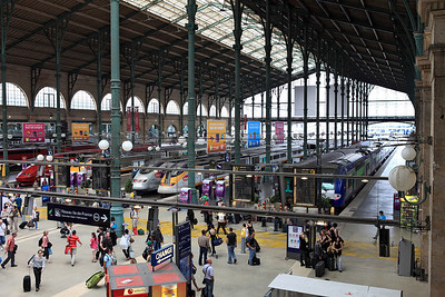 General view over the concourse at Paris Gare Du Nord. 04/06/2011