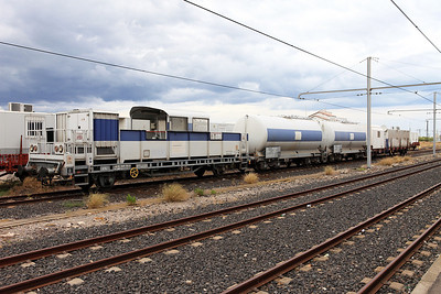 An unknown piece of on track plant stabled at Sete, possibly a weed killing unit? 31/05/2011
