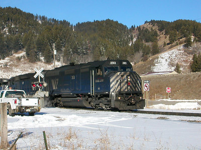 F45 - MRL393 on Bozeman Pass 2005-02-18 09:03:47