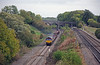 The 6B01 from Carlton Road Junction to Toton on the low level freight line at Souldrop, 66068 is leading…