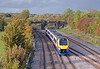 At Sharnbrook a Corby to St Pancras train hurries south