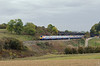 A pair of Meridians northbound having passed under Souldrop Road bridge which links Souldrop with Sharnbrook