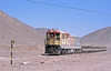 On our way back to Antofagsta we caught up with a loaded train of copper sheets, behind rebuilt GR12 1408