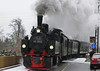 To help blow away the cobwebs (or was it the hair of the dog?) the HSB organised a special from Wernigerode to Brocken on New Years Day, here it is near Hochschule Harz station in Wernigerode, 5902 is one of the original 0-4-4-0T mallets, built by Jung in 1898 and it is hauling a train of vintage coaches. More gluwein was on the agenda once the train reached the Brocken.