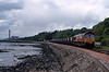 Empties returning, today they can head west via Alloa and Stirling rather than over the Forth Bridge.