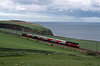 Further north at Burnmouth a Serco test train topped and tailed by RES 47s