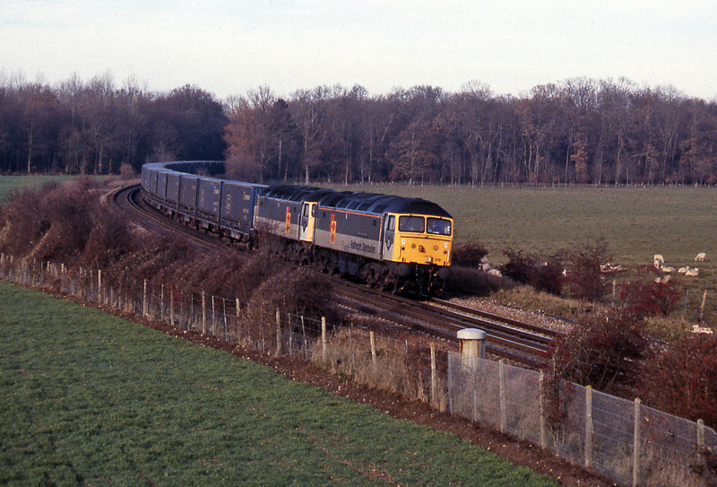 A couple from the 14th December, it's the 7X81 (today the 7O81) Channel Tunnel Express from Dagenham to Silla in Spain, a train which has survived all the trials and tribulations that has affected Channel Tunnel freight