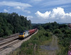 On Monday July 5th the 6V75 empties from Dee Marsh, a train which still runs today, approaching Woofferton.