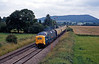 On Wednesday 7th there was a Northern Belle charter to Hereford, which brought a Deltic to the Welsh Marches. Here it is returning past Craven Arms