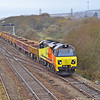 70813 6C22 Haverfordwest to Westbury at Llandeilo Junction 3/12/17.