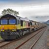 66849 tailing 66850 6C20 Llandeilo Junction to Westbury at Llangennech 28/4/19.