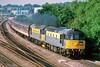 33019 Griffon & 33057 Seagull at Didcot with the Hertfordshire Railtours 1Z33 07:18 Paddington to Long Marston 'Honey Monster' railtour 29/7/1993.