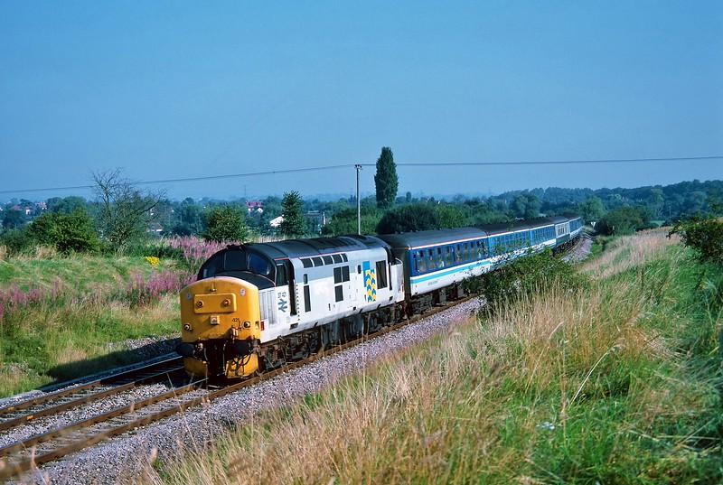 37421 09:00 Bristol Temple Meads to Weymouth near Westbury 1/9/1993.