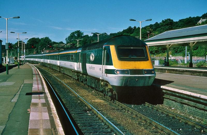 43021 13:35 London Paddington to Penzance at Exeter St Davids 8/8/1998.