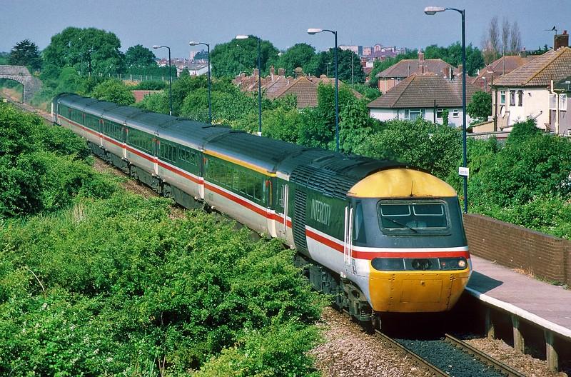 43079 06:07 Penzance to Newcastle at Weston Milton 8/7/1995.
