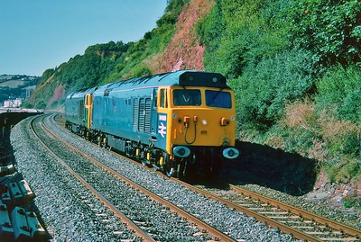 D400 & 50007 at Teignmouth 4/9/1993.