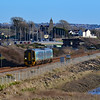 158840 1E16 1205 Cardiff Central to Milford Haven at Loughor 7/1/18.