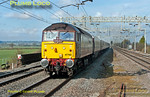 The Northern Belle ran a charter from Liverpool to Wembley Central for the Carling League Cup Final (result: Liverpool 3, Cardiff 2) on Sunday 26th February 2012. This was 1Z26, 09:45 from Liverpool Lime Street, but in the event it started from Chester due to a derailment at Winsford closing the WCML. Running around 12 minutes late at 12:46, 47790 leads the train while 47832 was dead on the rear. It was booked to run on the up slow line at this point, but was on the fast line, so I was the wrong side for the light... Digital Image No. GMPI11142.