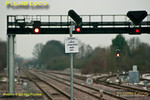 New signs have been erected at each end of both up and down platforms at Princes Risborough station, indicating stopping points for Chiltern LHCS. These are necessary since the strengthening of the Banbury set to seven coaches, this being a tight fit in the platforms here. Whilst obviously sited where they need to be for the drivers, they are slap-bang in the middle of approach shots from each platform, thus compromising photographers' angles... Thursday 9th February 2012. Digital Image No. GMPI10924.