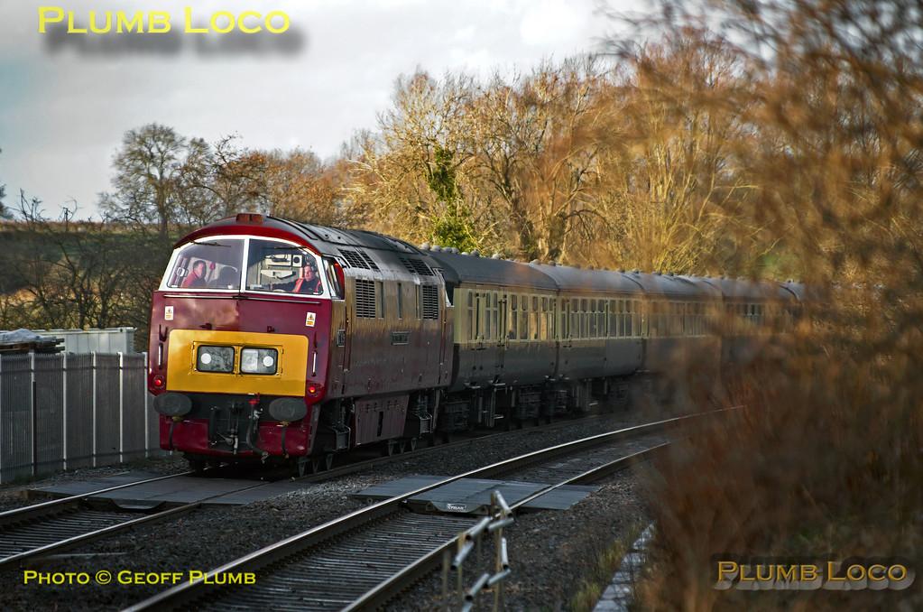 """D1015 """"Western Champion"""", Heyford, 1Z53, 9th February 2014"""