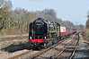 """BR Standard 70000 """"Britannia"""" is seen in full flight at Hook on the SWML heading for Salisbury 15/03/2014. A stunning sight & sound in superb conditions."""