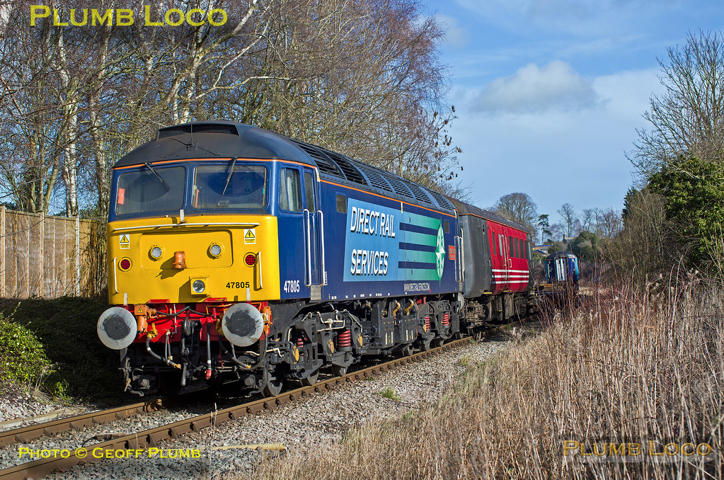 47501 & 47805, Islip Crossing, 4X30, 13th February 2014