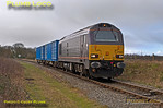 """67005 """"Queen's Messenger"""", Islip Crossing, 6A49, 13th February 2014"""